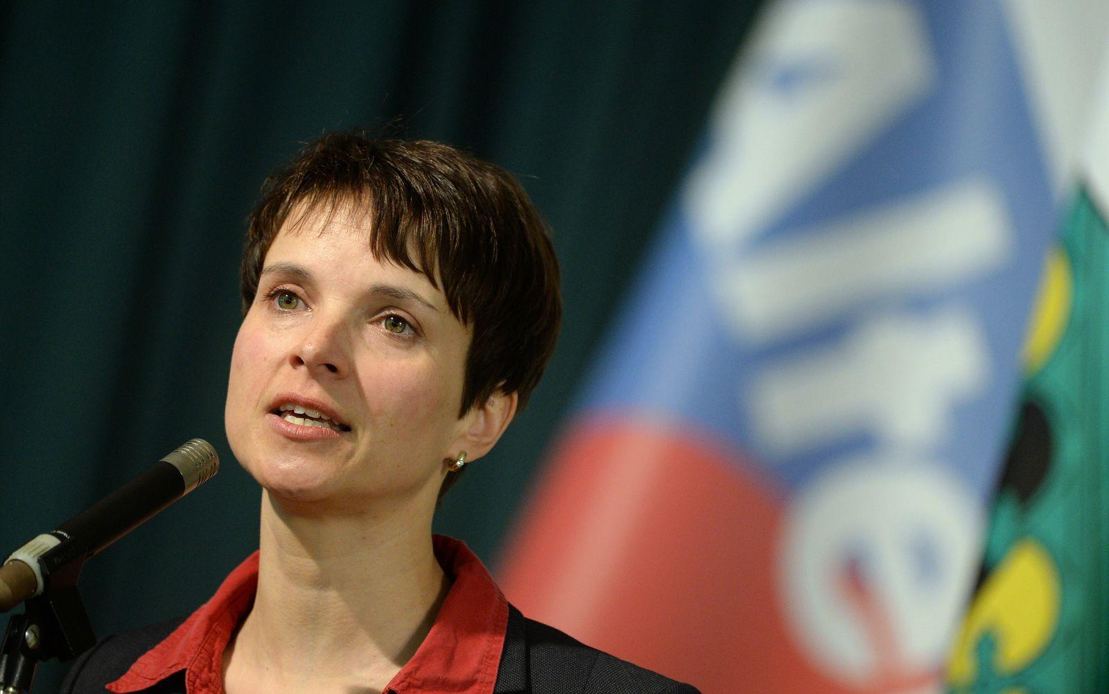 AFD Sachsen/ Wahlkampfauftakt/ Frauke Petry