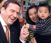 China-Besucher Schröder: In Zukunft ohne Dolmetscher?