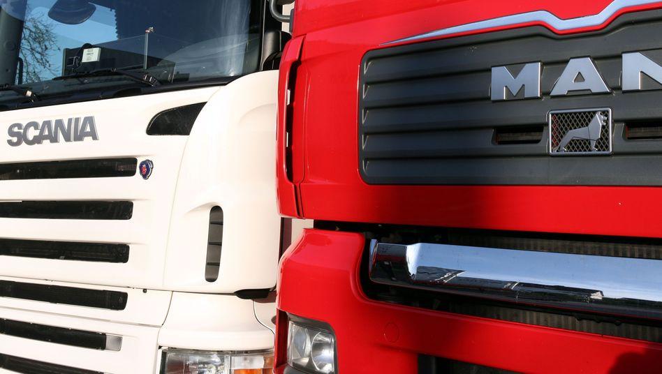 Scania- und MAN-Lkw: Durchsuchungen in Büro-Räumen