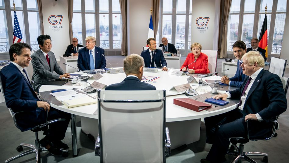 The leaders of the G-7 countries convene in France.