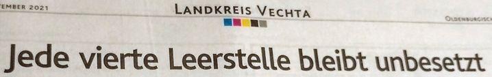 Aus den »Oldenburgischen Volkszeitung«