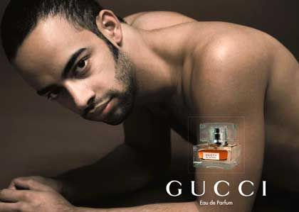 Juan Isidro Casilla in a Gucci ad he made himself and sent to a newpaper.