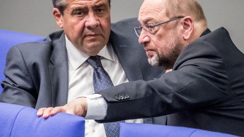 Sigmar Gabriel, Martin Schulz (im November im Bundestag)