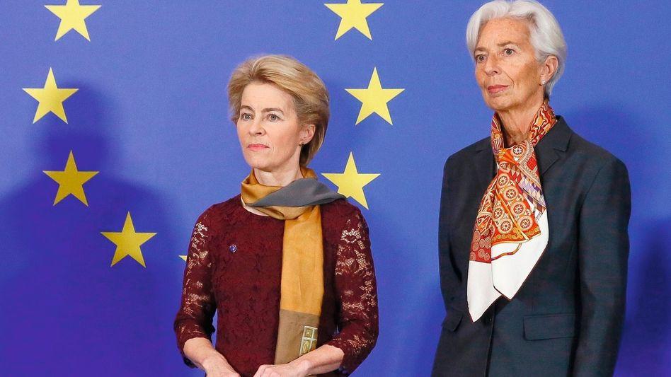 Führungsduo von der Leyen, Lagarde 2019:Nötiger Flankenschutz