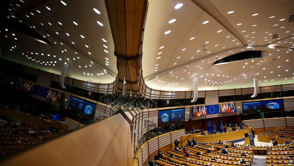 Plenarsaal des Europäischen Parlaments in Brüssel