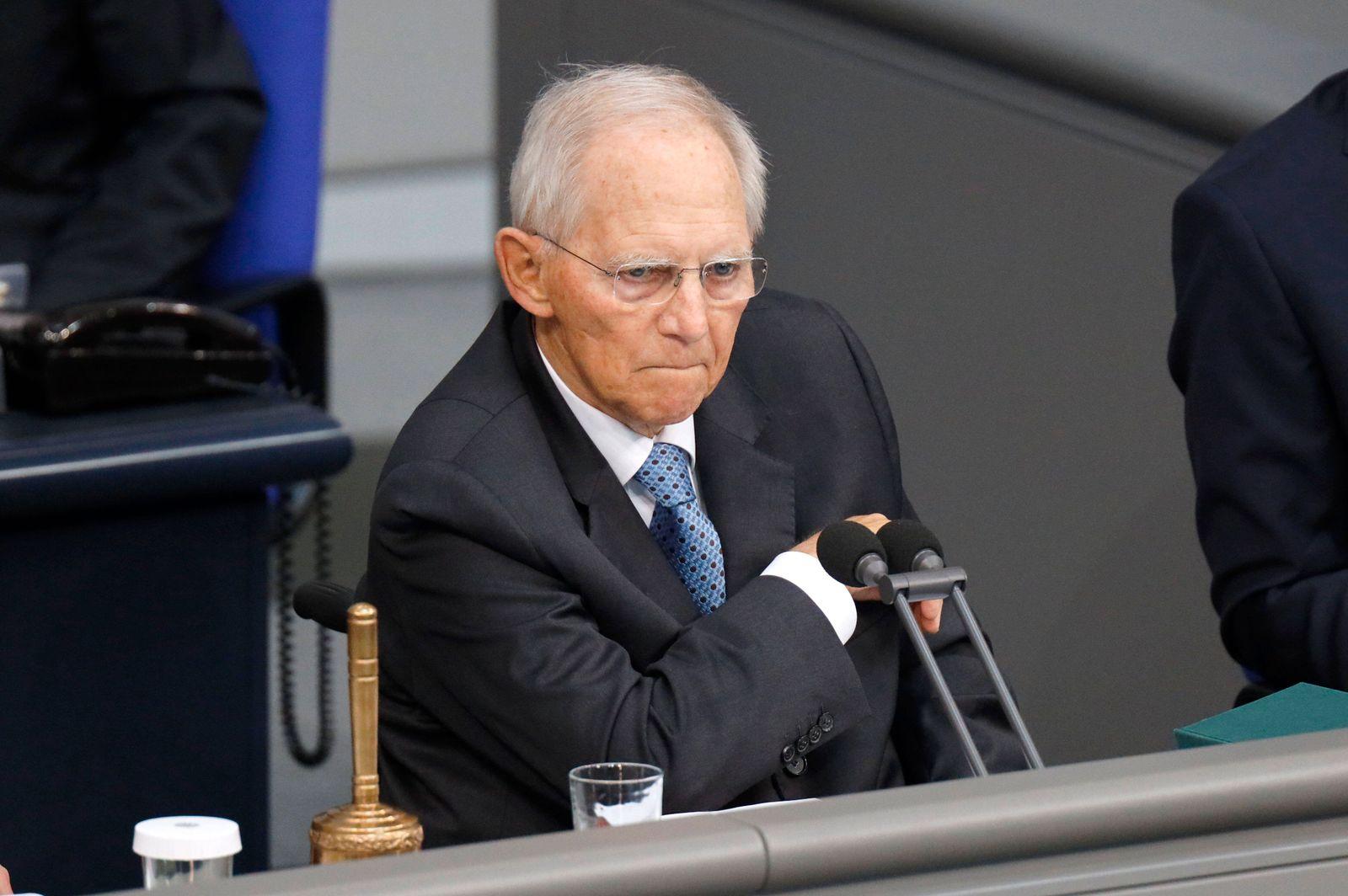 Wolfgang Schäuble in der 235. Sitzung des Deutschen Bundestages im Reichstagsgebäude. Berlin, 23.06.2021 *** Wolfgang Sc
