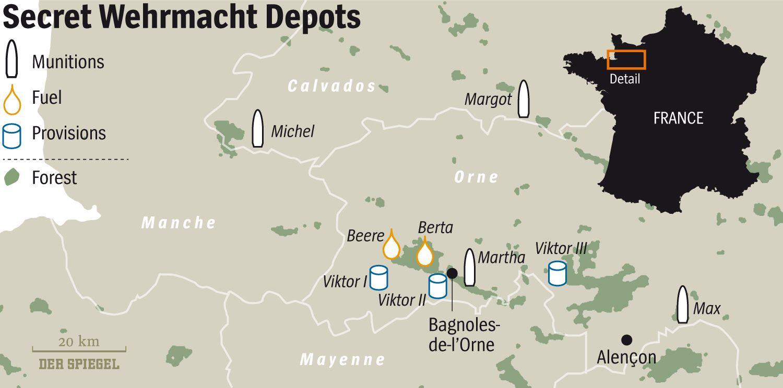 ENGLISH VERSION GRAFGIK DER SPIEGEL 29/2015 Seite 119 - Secret Wehrmacht Depots