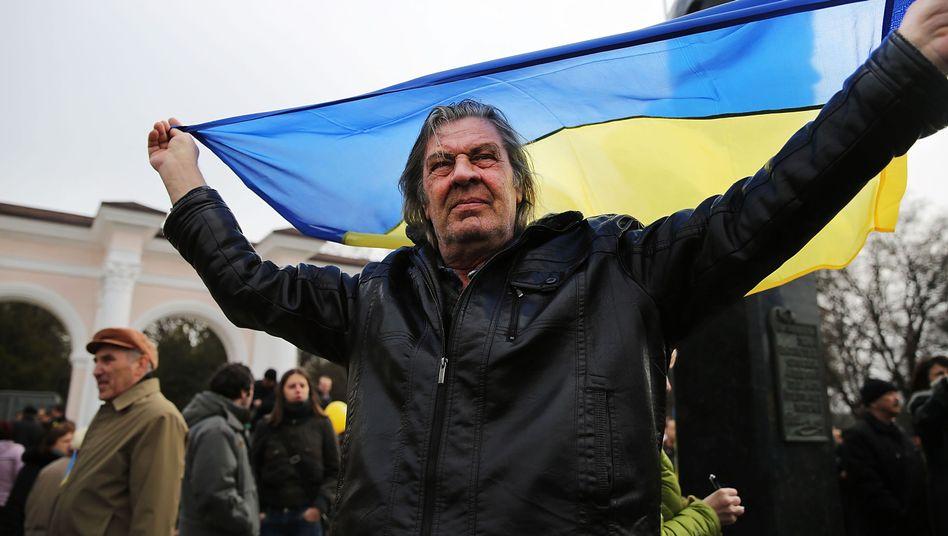 Demonstration in Simferopol: Referendum am kommenden Wochenende