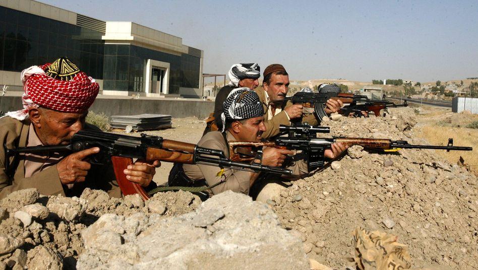 """Kurdische Kämpfer (bei Mossul): """"Waffenlieferungen stehen derzeit nicht zur Debatte"""""""