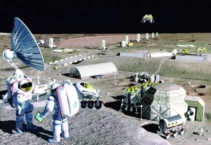 Nasa-Vision einer Mondstation: Sauerländer protestieren gegen Baupläne
