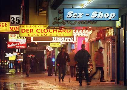 The Reeperbahn in Hamburg is hoping to clean up its image in time for the World Cup.