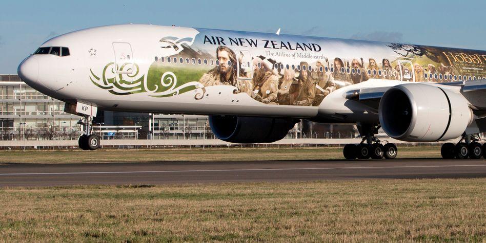 Air New Zealand: Die Fluggesellschaft wirbt selbst mit Maori-Symbolen