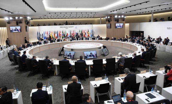 Arbeitssitzung der Regierungs- und Staatschefs beim G20-Gipfel in Osaka