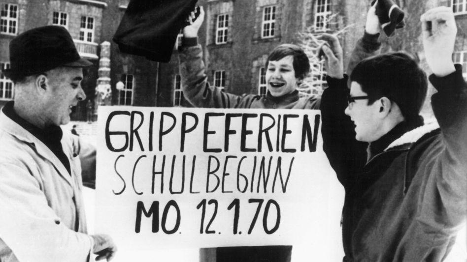 Norddeutsche Schüler im Januar 1970:Ferien verschoben