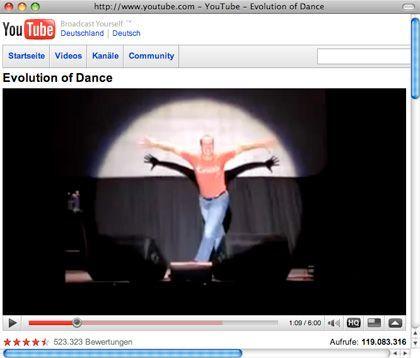 Schon 147 Millionen Mal hat ihm jemand beim Tanzen zugeschaut: Judson Laipply