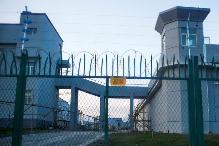 Außenansicht eines Internierungslagers für Erwachsene in Xinjiang