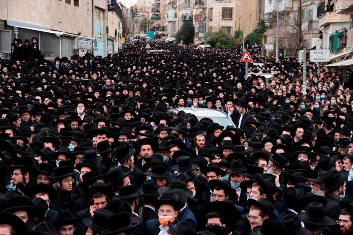 War da was? Begräbnis des Rabbiners Meshulam Dovid Soloveitchik in Jerusalem