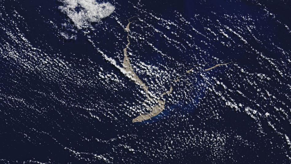 Satellitenbild vom Gesteinsteppich: Fläche von rund 150 Quadratkilometern