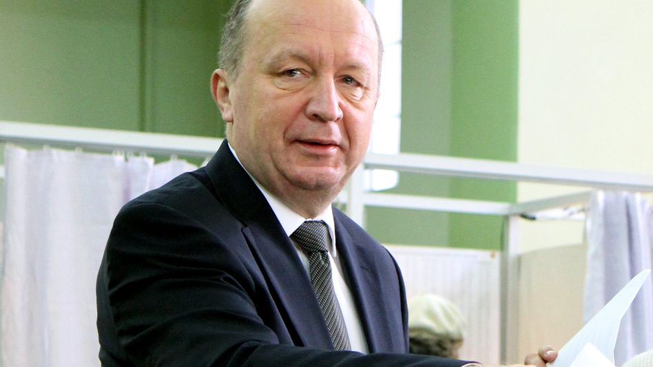 Litauens Premier Andrius Kubilius bei der Stimmabgabe: Abgestraft vom Wähler