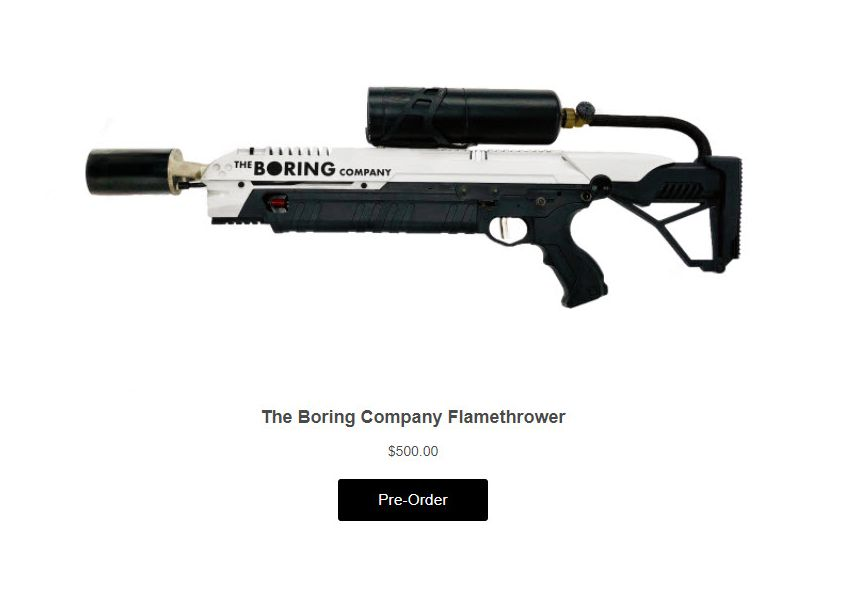 NUR ALS ZITAT Screenshot Newsletter/ Boring Flamethrower