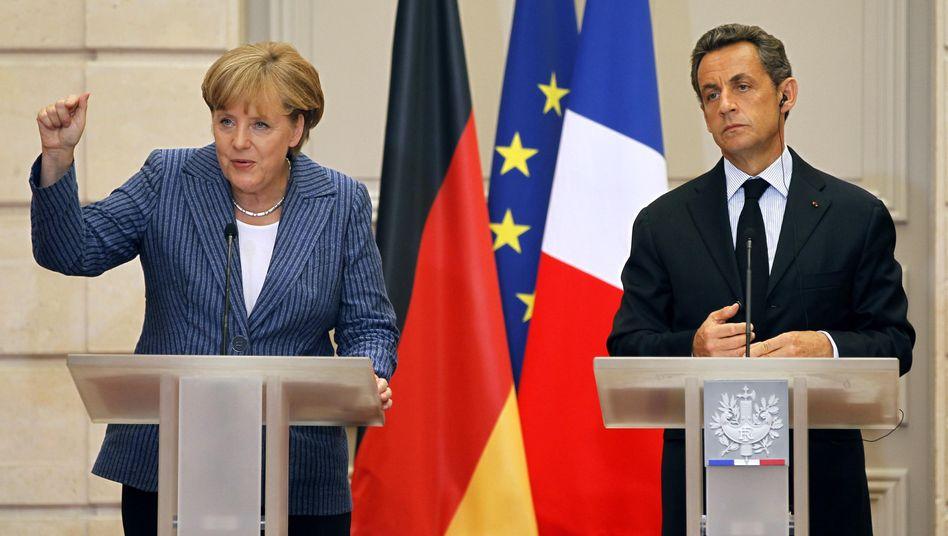 Krisentreffen von Merkel und Sarkozy: Große Worte, kleine Taten