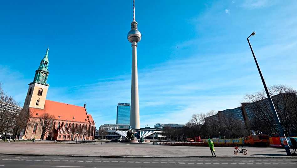 Berlin's Alexanderplatz Square: Public life is about to go nearly silent in the German capital.