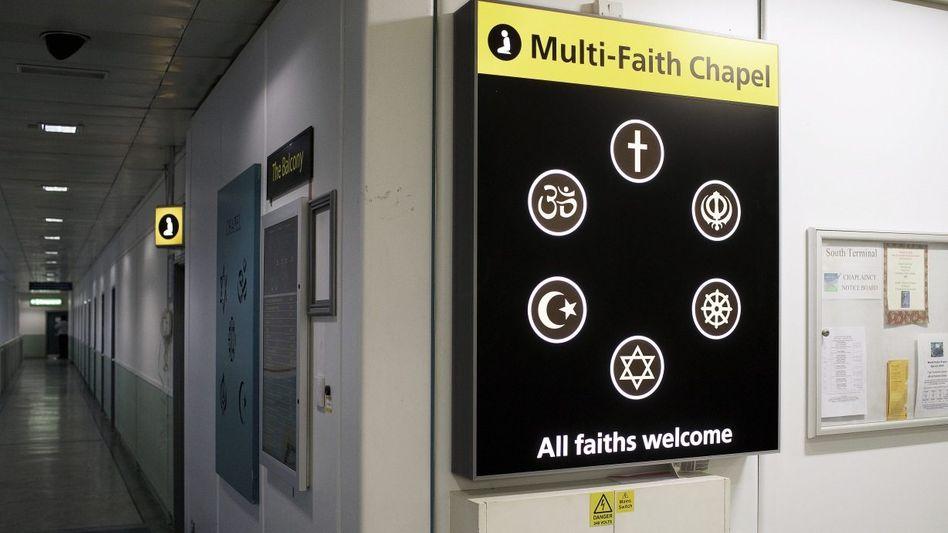 Kapelle für verschiedene Glaubensrichtungen auf dem Flughafen London Gatwick