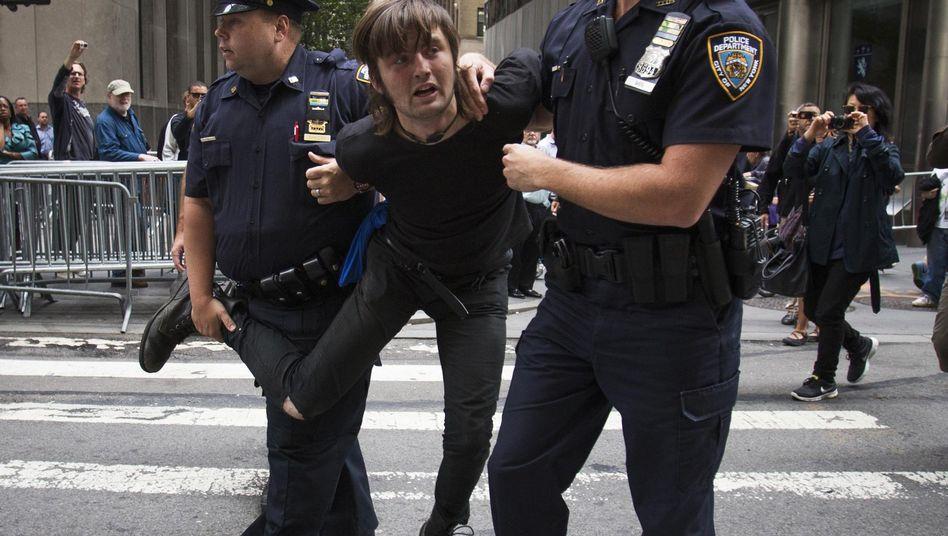 Festnahme in New York: Polizei löste unangemeldete Kundgebung auf