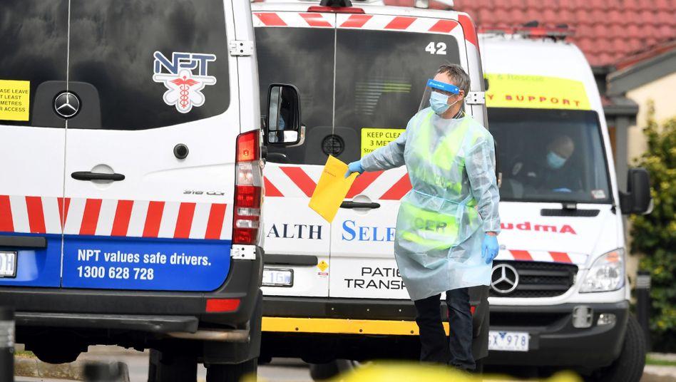Rettungswagen in der australischen Millionenmetropole Melbourne