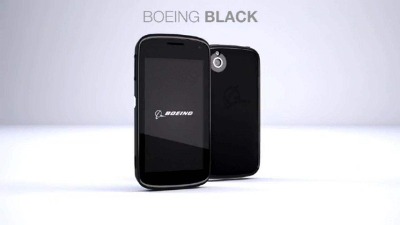 NUR ALS ZITAT Screenshot Boeing Black Smartphone