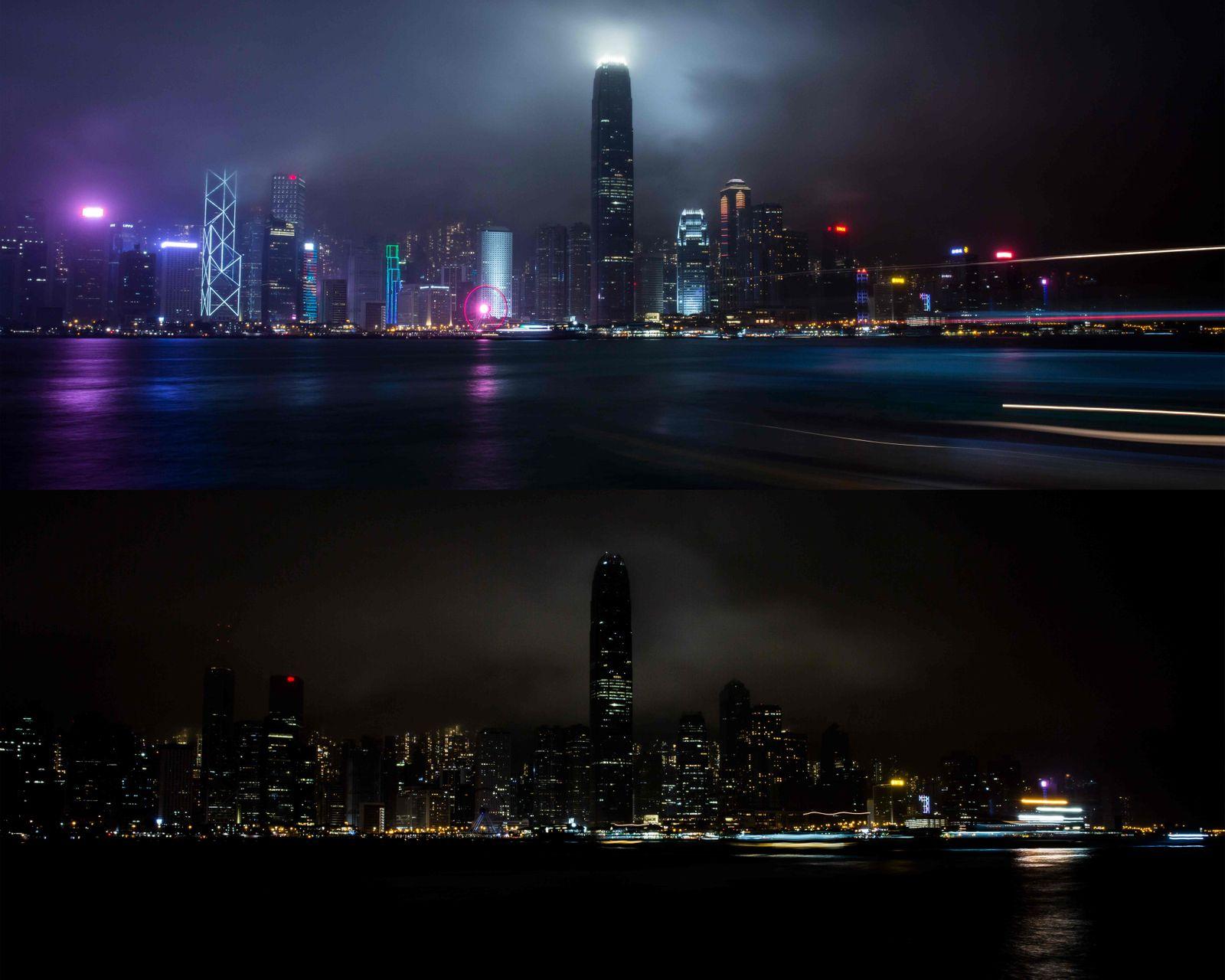COMBO-HONG KONG-ENVIRONMENT-ENERGY-EARTH HOUR