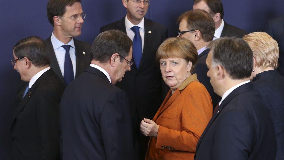 Gipfelteilnehmer in Brüssel