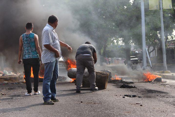 Straßenproteste in der Stadt Maracaibo