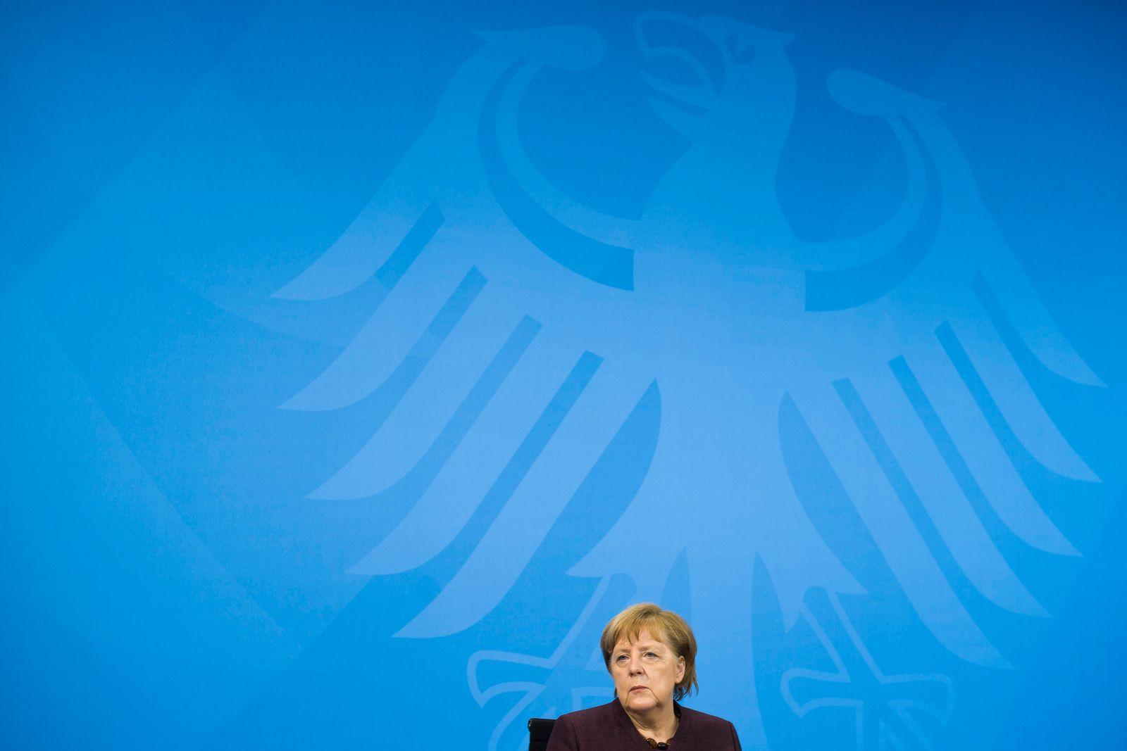 Pressekonferenz Bundeskanzlerin Angela Merkel