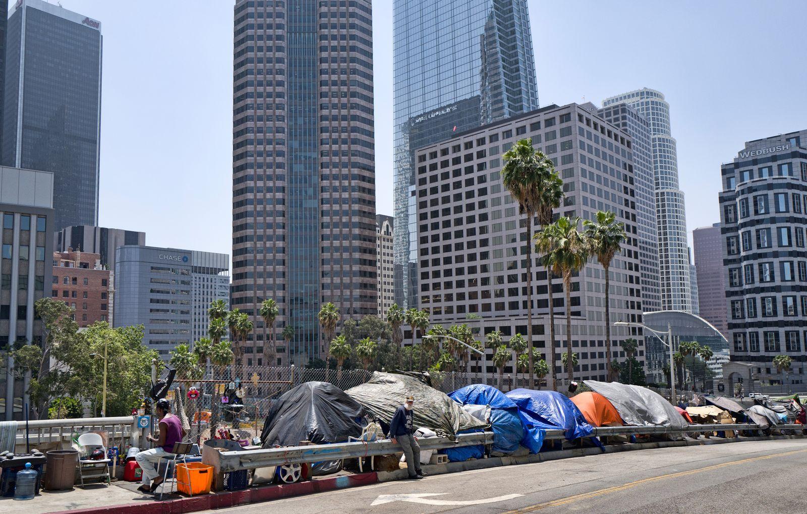 Obdachlosigkeit/ Obdachlose/ Los Angeles