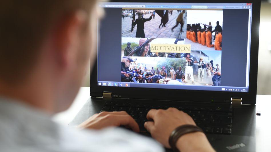 Terror-Propaganda im Internet (Symbolbild)
