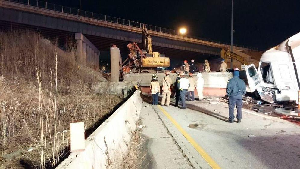 Einsturz von Brücke auf US-Autobahn: Kurz vor dem Abriss