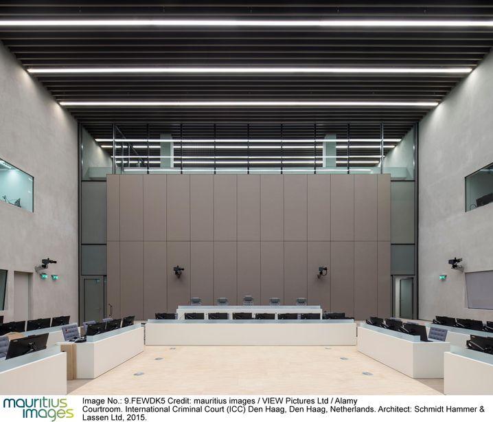 Gerichtssaal in Den Haag