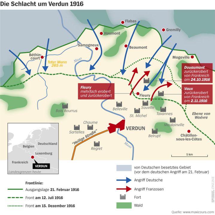 Schlacht Um Verdun Beginn Am 21 Februar 1916 Der Spiegel