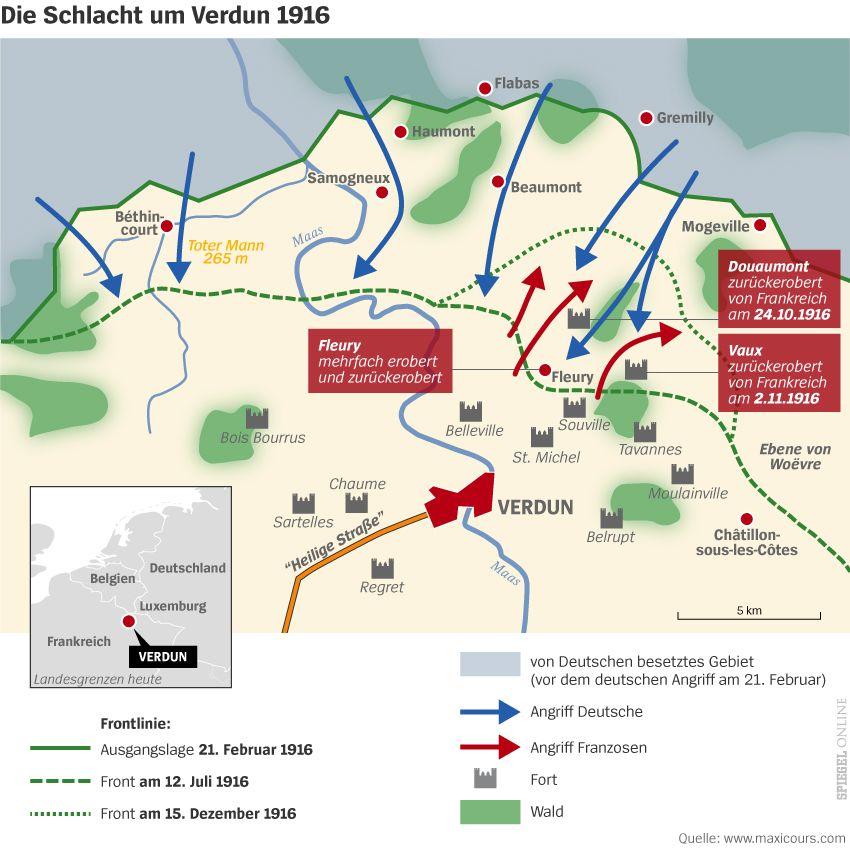 Grafik Karte - Die Schlacht um Verdun