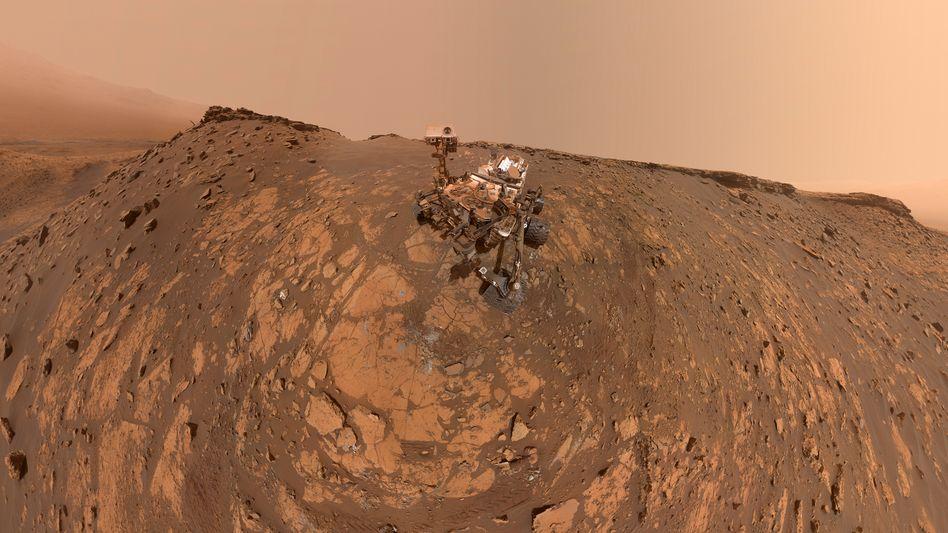 """360-Grad-Aufnahme des Nasa-Rovers """"Curiosity"""": Aus 86 Einzelbildern zusammengesetzt"""