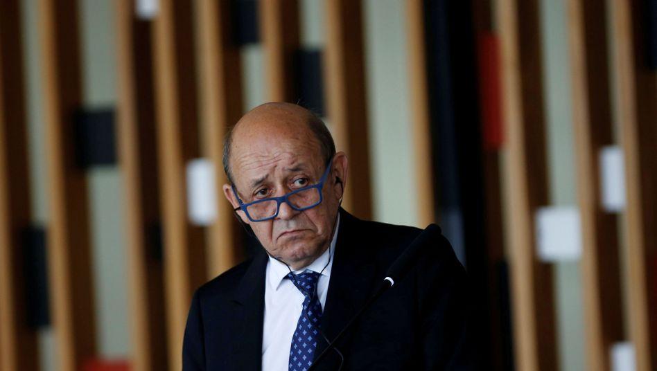 """Frankreichs Außenminister Jean-Yves Le Drian: Paris braucht """"keine Erlaubnis"""", um sich über Iran zu äußern"""