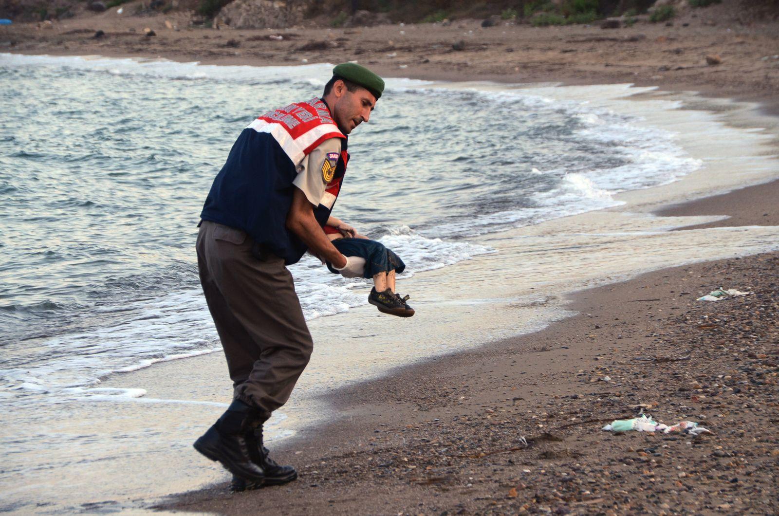 Toter Flüchtlingsjunge