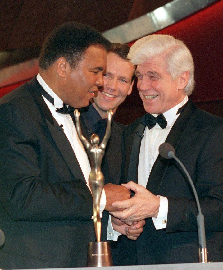 Muhammad Ali, Henry Maske und Karl Mildenberger (v.l.n.r., Archiv)