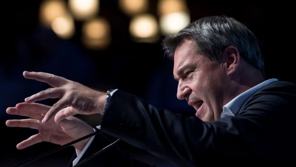 Markus Söder im Wahlkampf für die CSU, Archivbild von 2018