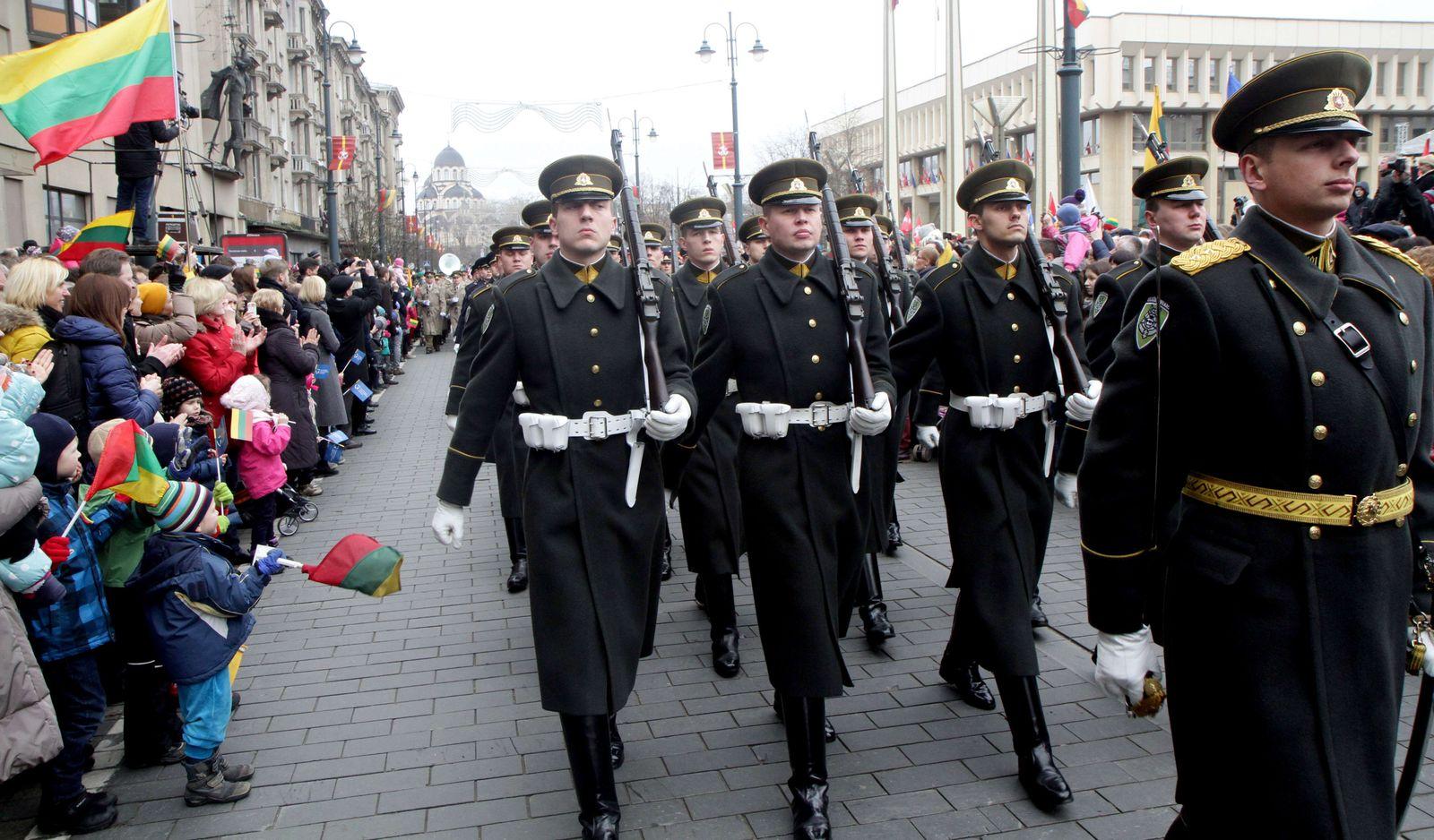 Lettland Parade Russland