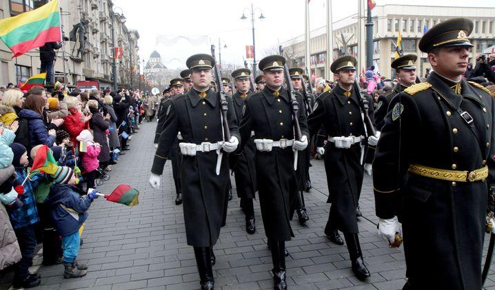 Parade zum Gedenken der Unabhängigkeit von Russland
