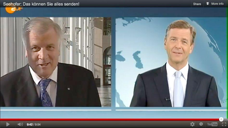 """Politiker Seehofer, TV-Mann Kleber: """"Wie ein Eisbecher, der in der Sonne steht"""""""