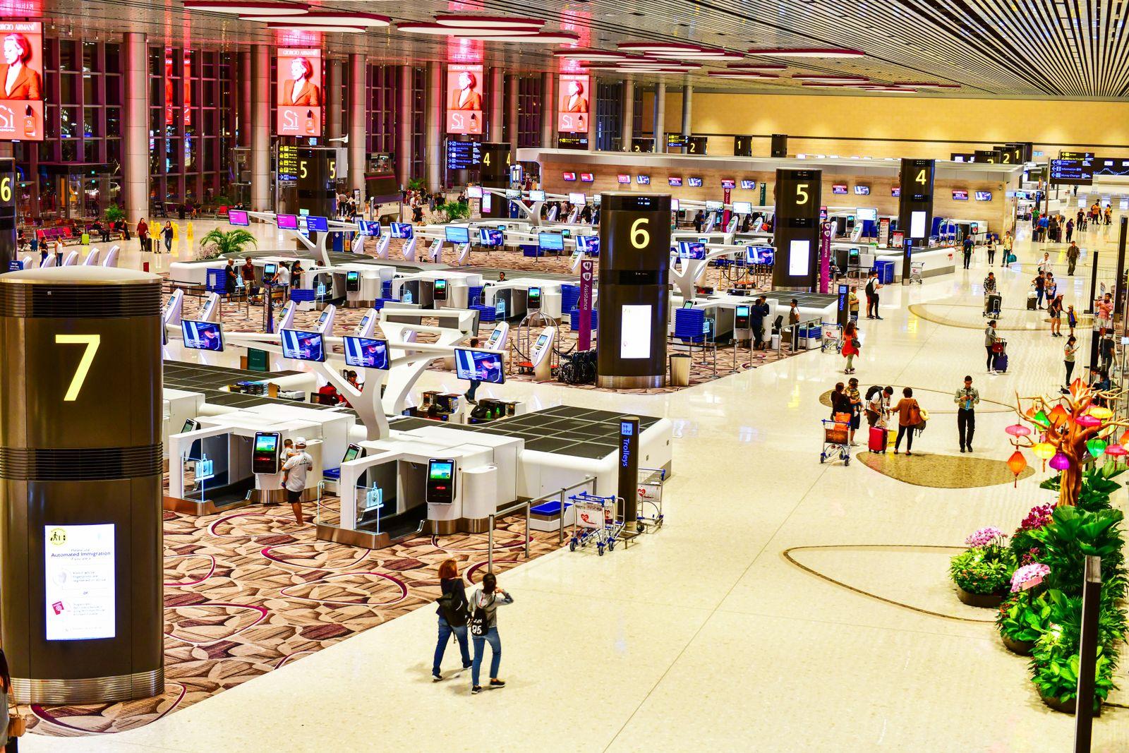 EINMALIGE VERWENDUNG Changi Airport/ Singapur
