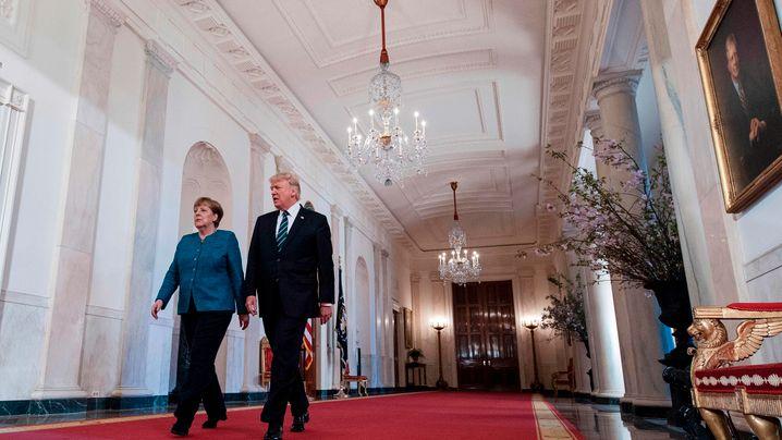 Erstes Zusammentreffen: Trump empfängt Merkel